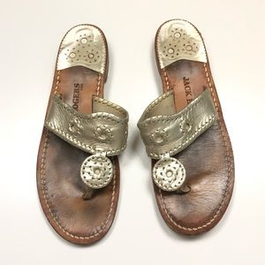 JACK ROGERS | Champagne Silver Sandals